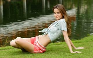 Attractive slim girl.