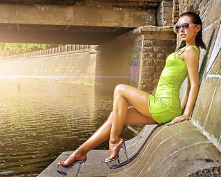 Erstaunlich Mädchen DJ Milana.