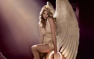 Wonderful photo of a girl with angel wings